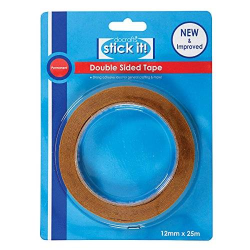 Stick it 25 x 12 mm cinta adhesiva de doble cara, marrón