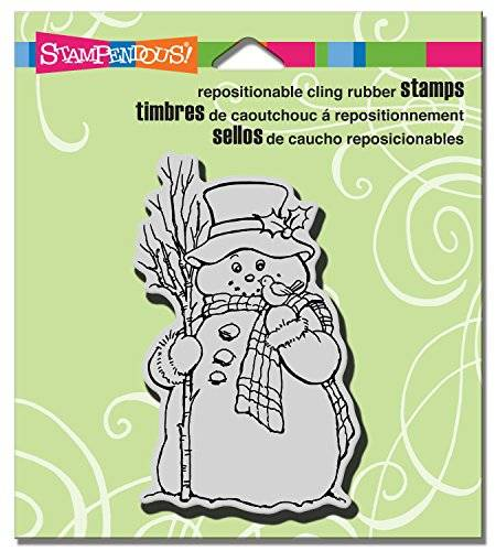 Stampendous Christmas Cling Rubber Stamp 3.5