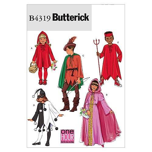Butterick Patterns B4319 - Patrones para disfraces de niño y niña (todas las tallas), color blanco