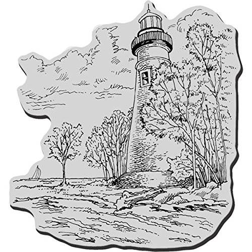 Stampendous Cling Rubber Stamp-Marblehead Lighthouse