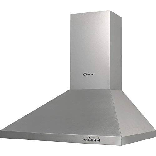 Candy CCE 16/2 X Wall-mounted cooker hood Acero inoxidable 380m³/h D - Campana (380 m³/h, Canalizado/Recirculación, 60 dB, Wall-mounted cooker hood, Acero inoxidable, 2 bulb(s))
