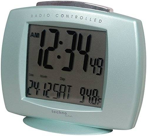 Technoline WT 189 cool grey reloj despertador digital, azul claro