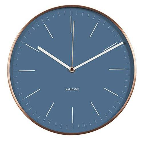 Karlsson Minimal - Reloj de pared, color azul