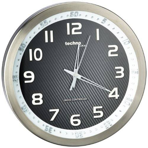 Technoline Wt 8970 - Reloj de Pared, color Aluminio Y negro