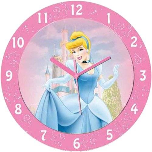 Technoline Qwu Princess 1 - Reloj de Pared Infantil, diseño de Princesa Disney