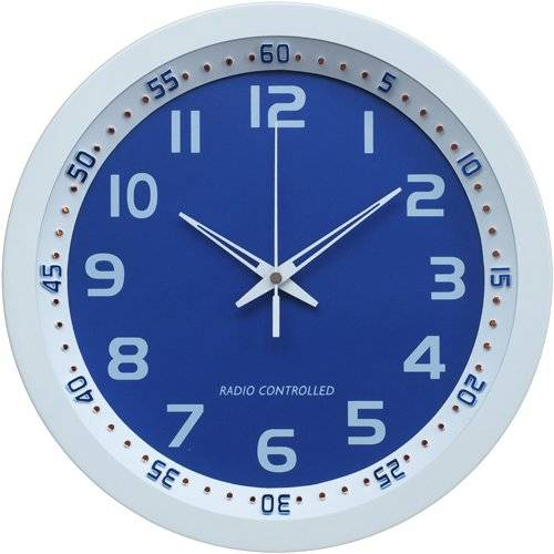Technoline Wt 8971 - Reloj de Pared Controlado Por Radio, Colores blanco Y azul