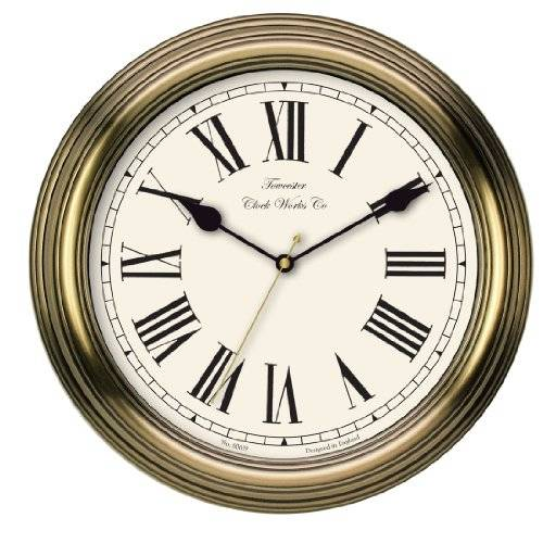 Towcester Clock Works Acctim 26708 Redbourn Reloj de pared, color dorado