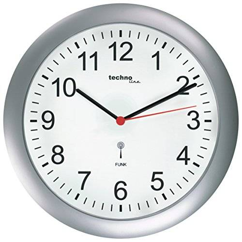 Technoline Innova WT 8700 - Reloj de pared (26 x 4,2 x 26 cm), color plateado