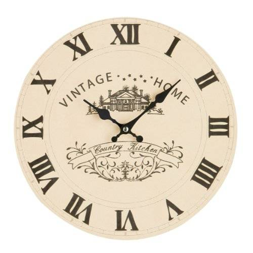 Premier Housewares - Reloj de pared, color beige
