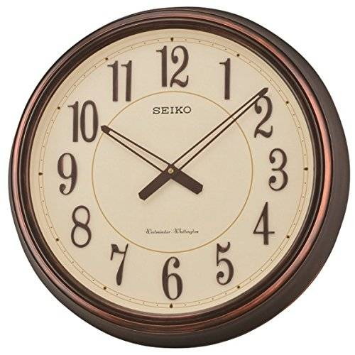 Seiko QXD212B Westminster/Whittington carrillón de reloj de pared doble, Beige