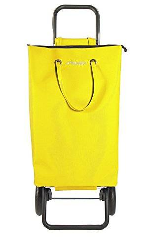 Rolser SuperBag Logic RG - Carro de compra de 2 ruedas, plegable, color amarillo