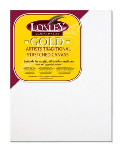 Loxley Gold - Lienzo (45 x 35 cm, 18 mm), color blanco