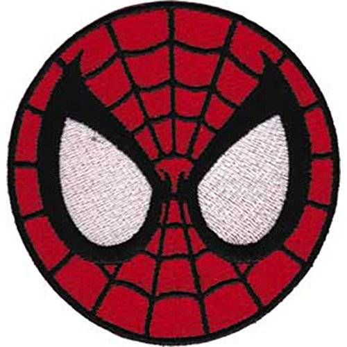 Officially Licensed & Trademarked Products SPIDERMAN Application Aplicación Mask PATCH,PARCHE Officially Oficialmente Licensed Autorizado Marvel Comics Superhero Artwork,ilustraciones Iron-On/Sew-On, 2.8