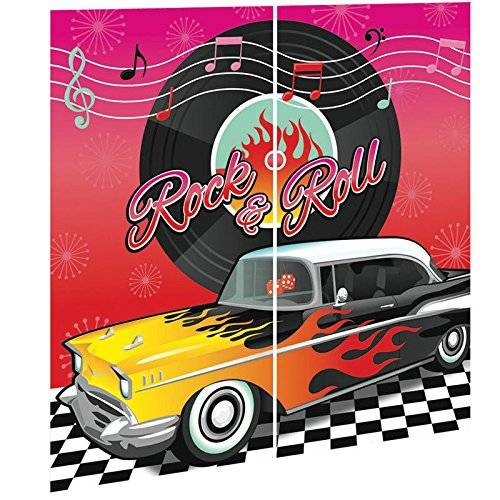 Amscan Rock and Roll - Mural decorativo (165 x 165,1 cm)