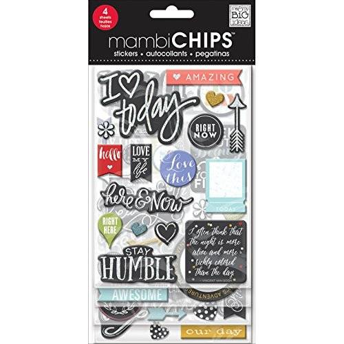 Me & My Big Ideas Chipboard Value Pack-Chalk-Colored Amazing