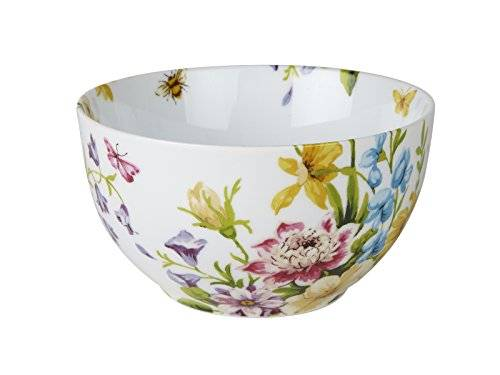 Creative KATIE ALICE English Garden SHABBY CHIC White Floral PORCELAIN CEREAL BOWL