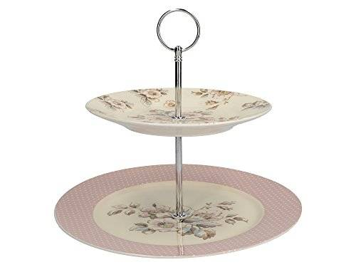 Creative Katie Alice - Vintage Inspired Two Tier Cottage Flower Cake Stand