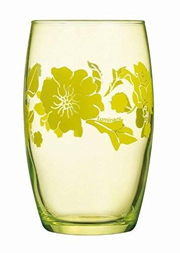 Luminarc 8011551,0 Covent Garden vasos altos cristal, color verde, 7,6 x 7,6 x 12,1 cm, 6 unidades, 36 cl
