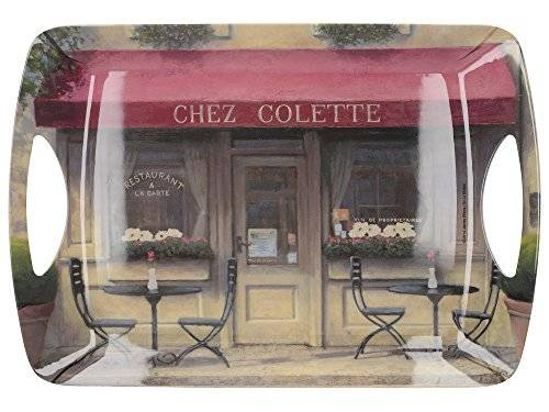 Creative CHEZ COLETTE Large Luxury MELAMINE SERVING TRAY By Creative Tops