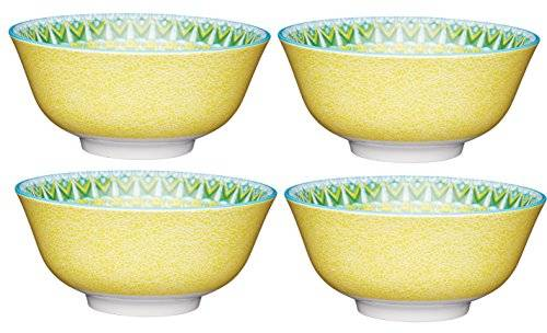 Kitchen Craft Kitchencraft Footed Crackle-Effect/Mosaic-Patterned Cuencos, 15,5 cm (6