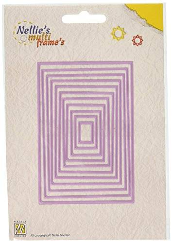 Ecstasy Crafts Nellie's Choice Multi Frame Dies-Straight Rectangle