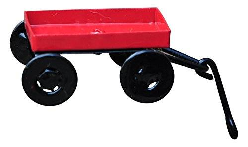 Desconocido G & F 10023 Fairy Mini Garden Miniature Little Wagon Wallpaper - Red