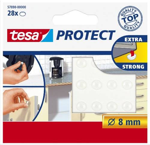 Tesa 57898-00000-01 - Pack de 28 gotas anti ruido (diámetro de 8 mm) color transparente