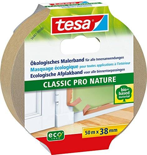 TESA 56461 - masking tapes (Painters masking tape, Interior, Beige, Papel, Madera, Acrílico, Alkyd, Latex)