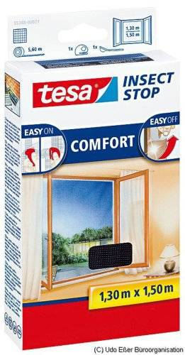 TESA Insect Stop Comfort - mosquito nets (141 g, 1300 x 10 x 1500 mm, ABS sintéticos, Plata, 454 g)