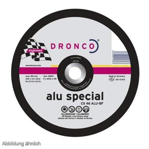 Dronco special express - Disco corte metal cs46 aluminio 230x1,6x22,23mm