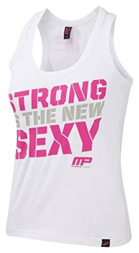 Musclepharm MPLVST432 LADIES MUSCLE PHARM PRINTED VEST WHITE LARGE - Las Mujeres Imprimieron Chaleco - Blanco, Grande