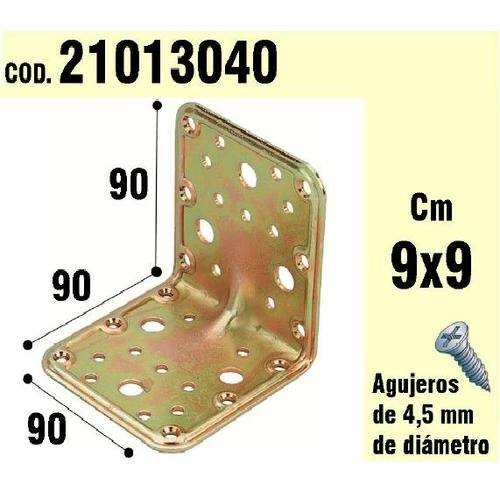 Wolfpack 21013040 - Soporte para madera, ángulo, 90 x 90 x 90 mm