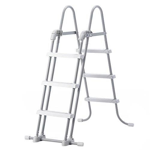Intex - Escalera Intex acero para piscinas de altura 91 a 107 cm - 28072