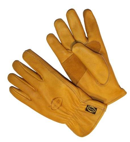 Desconocido G & F Premium Genuine Grain Cowhide Leather Gloves with Reinforced Patch Palm, 3-Pair