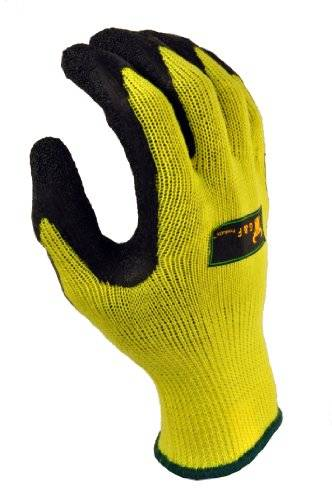 Desconocido G & F 1516 Grip Master Heavy Textured, High Visibility Latex Coated Gloves, 2 Pairs Value Pack, Green