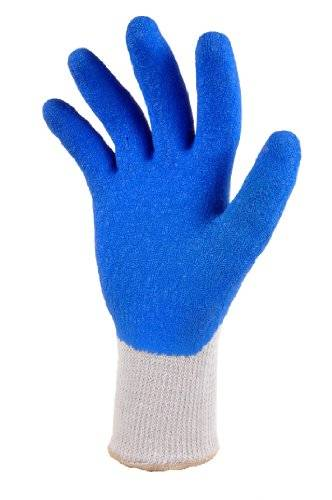 Desconocido G & F Heavy Duty Rubber Coated Work Gloves, Blue, 3-Pack