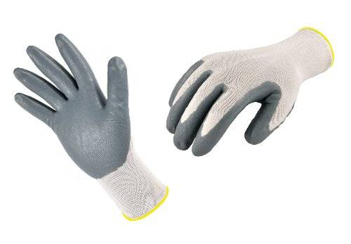 Desconocido G & F Seamless Knit Nylon Nitrile Coated Work Gloves, Grey, 3-Pack