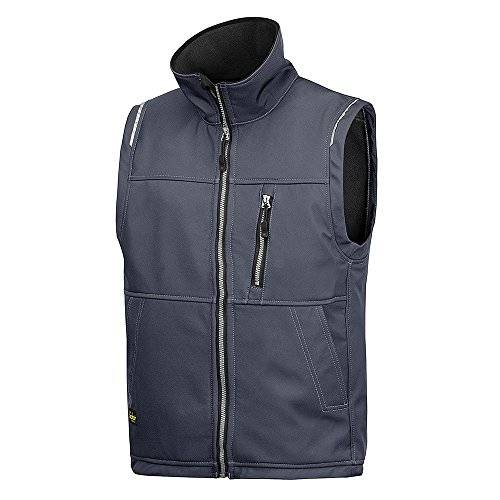 Snickers 45115800007 - Chaleco soft shell gris acero talla xl