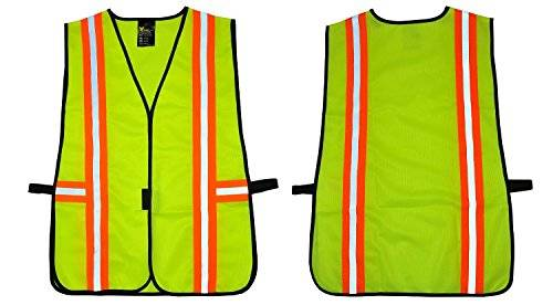 Desconocido G & F 41112 Industrial Safety Vest with Reflective Stripes, Neon Lime Green