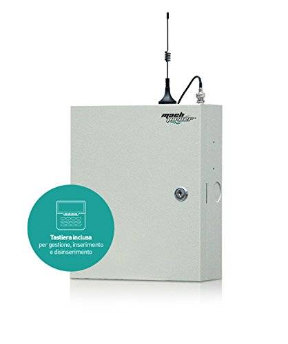 Mach Power as-mbcw-038 Central Alarma, Gris