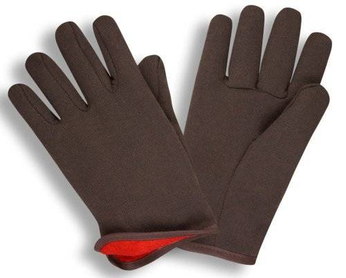 Desconocido G & F 4414L-DZ Brown Jersey Winter Work Gloves with Red Fleece Lining, Large, 12-Pair