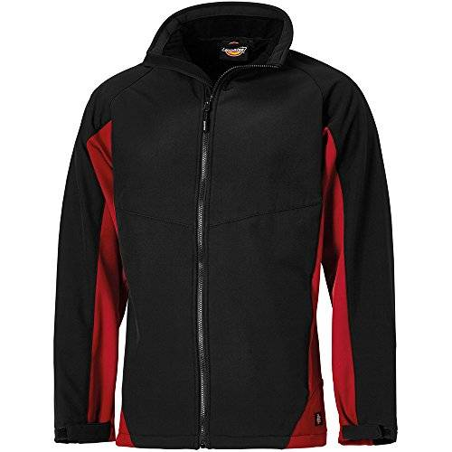 Dickies - Chaqueta softshell «Maywood» JW84955 BKR3XL, talla XXXL, color negro y rojo, multicolor, JW84955 BKR M