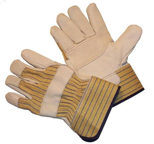Desconocido G & F 6431 Double Patch Palm Leather Work Gloves, Drivers Gloves, Large, 1 Pair