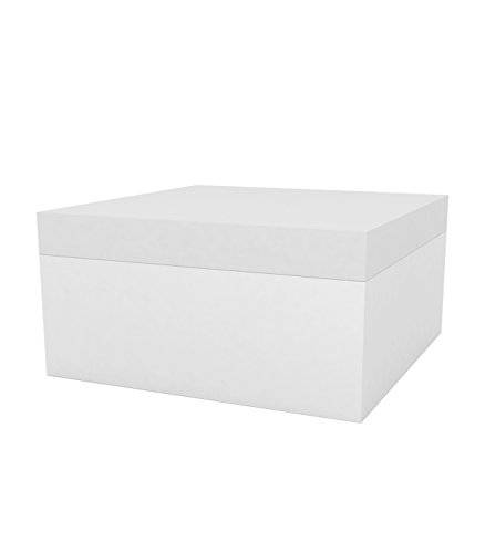 Vondom Quadrat - Puf, 80 x 80 x 40 cm, color blanco