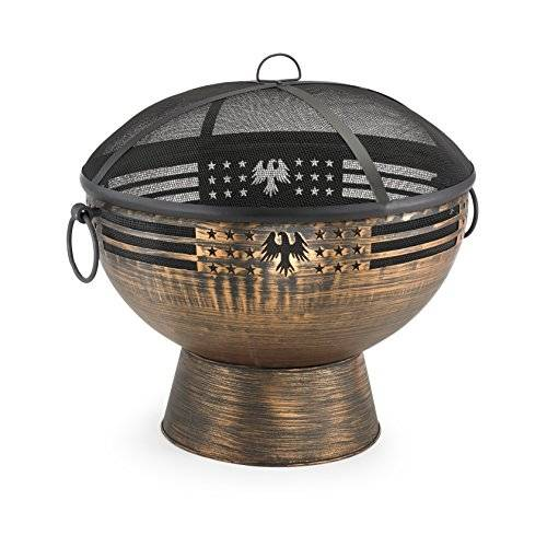Good Directions FB-5 Oversized Eagle Fire Bowl with Spark Screen, 26