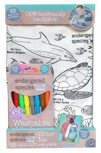 Endangered Species by Sud Smart Color Me Eco-Pack Activity Back Pack, Ocean by Endangered Species by Sud Smart