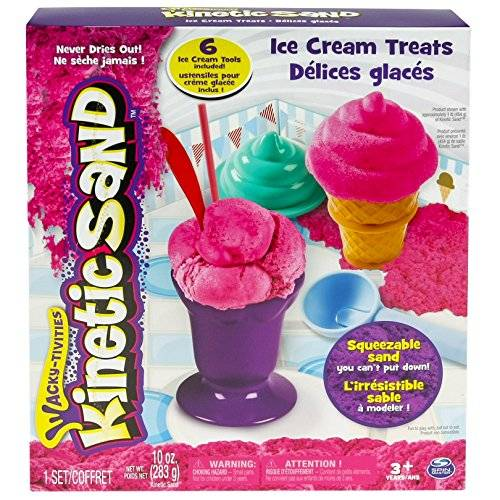 Spin Master Kinetic Sand Ice Cream Treats - arena cinética (Rosa, Chica)