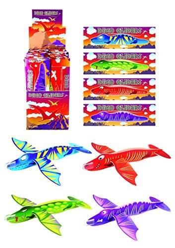 Henbrandt 12x Dinosaur Gliders (4 Assorted Designs) by Henbrandt