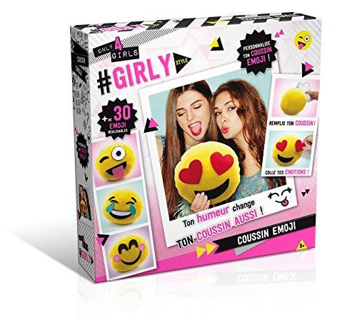 Ct - Only For Girls Girls Only CT28548 - Cojín personalizable, diseño de emojis