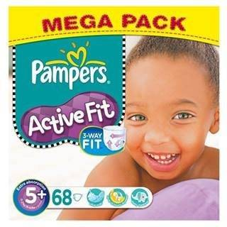 Pampers Active Fit Size 5+ (13-27kg) Mega Pack x 68 per pack by Pampers